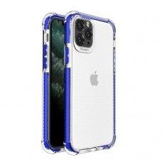 Iphone 11 dėklas Spring Case skaidrus mėlynais kraštais