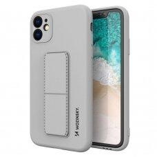 Iphone 11 dėklas WOZINSKY KICKSTAND pilkas