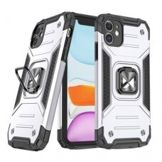 Iphone 11 dėklas Wozinsky Ring Armor pilkas