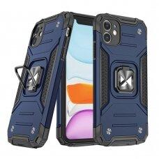 Iphone 11 dėklas Wozinsky Ring Armor mėlynas