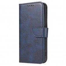 Iphone 11 Pro ATVERČIAMAS DĖKLAS SMART MAGNET Elegance tamsiai mėlynas