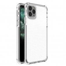 Iphone 11 pro dėklas Spring Case  TPU  skaidrus baltais kraštais