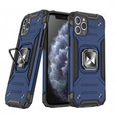 Iphone 11 Pro MAX dėklas Wozinsky Ring Armor pc plastikas mėlynas