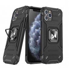 Iphone 11 Pro max dėklas Wozinsky Ring Armor pc plastikas juodas