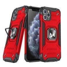 Iphone 11 Pro max dėklas Wozinsky Ring Armor pc plastikas raudonas