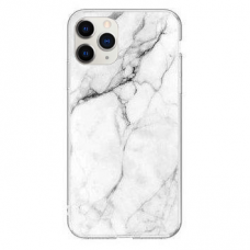 Akcija! iPhone 11 Pro Max Wozinsky Marble TPU Baltas
