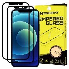 Akcija! iphone 11/ XR lenktas grūdintas apsauginis stiklas wozinsky H Pro 5D juodais kraštais 2 vnt.
