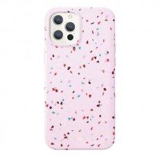 Akcija! Iphone 12 / 12 pro dėklas UNIQ Coehl Terrazzo rožinis