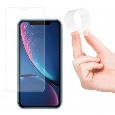 Akcija! iPhone 11 / XR GRŪDINTO STIKLO EKRANO APSAUGA Wozinsky Nano Flexible Glass