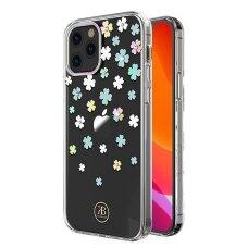 AKCIJA! iPhone 12 / 12 pro  nugarėlė Kingxbar Wish Series dekoruota Swarovski kristalais Skaidrus Dobilas