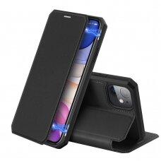 Iphone 12 Mini atverčiamas dėklas Dux ducis skin x juodas