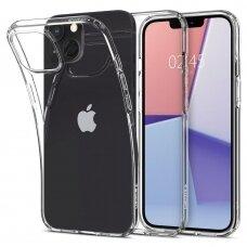 Akcija! Iphone 13 mini dėklas Spigen Liquid Crystal TPU permatomas