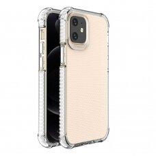 akcija! Iphone 12 mini dėklas sutvirtinais kampais Spring Armor clear TPU baltais kraštais