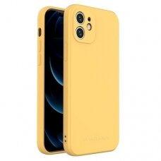 Iphone 12 mini dėklas Wozinsky Color Case silikonas geltonas