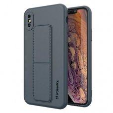 Iphone X/XS dėklas WOZINSKY KICKSTAND tamsiai mėlynas
