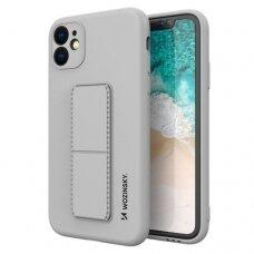 Iphone 12 Pro Max dėklas WOZINSKY KICKSTAND pilka