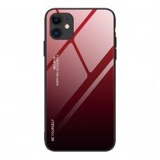 iPhone 12 mini nugarėlė Gradient Glass raudonas-juodas