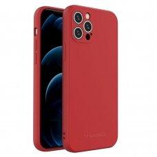 Akcija! iPhone 12 Pro dėklas Wozinsky Color Case silikonas raudonas