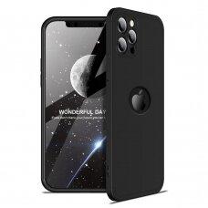 Akcija! iPhone 12 dviejų dalių apauginis dėklas GKK 360 juodas