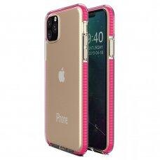 Iphone 12 Pro Max dėklas Spring Case skaidrus rožiniais kraštais