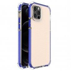 IPhone 12 Pro Max dėklas Spring Case skaidrus mėlynais kraštais