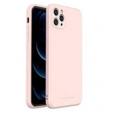Iphone 12 Pro Max dėklas Wozinsky Color Case silikonas rožinis