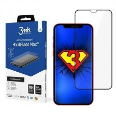 Akcija! iPhone 7/8/se2 apsauginis stikliukas 3MK Hard Glass Max  juodais kraštais
