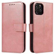 Iphone 11 Pro ATVERČIAMAS DĖKLAS SMART MAGNET Elegance rožinis