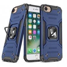 Iphone 7 / 8 / se 2020 apsauginis dėklas Wozinsky Ring Armor mėlynas