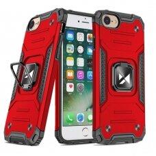 Iphone 7 / 8 / se 2020 apsauginis dėklas Wozinsky Ring Armor raudonas