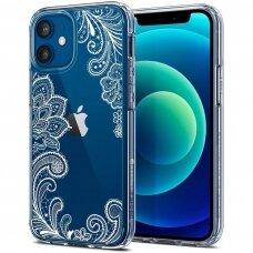 Akcija! Iphone 11 pro max dėklas Spigen White Mandala skaidrus