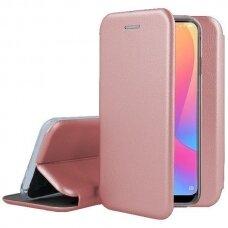 Iphone 7 / Iphone 8 atverčiamas dėklas Book elegance oda rožinė
