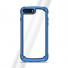 Akcija! Iphone 7 / Iphone 8 dėklas Solid Frame PC Case with TPU Bumper mėlynas