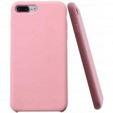 """Iphone 7 plus / 8 plus dėklas """"Liquid silicon""""  silikonas rožinis"""