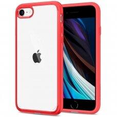 Akcija! Iphone 7 Plus/8 Plus Spigen Ultra Hybrid 2 skaidrus raudonais kraštais