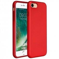 Akcija! Iphone 7/8 dėklas Silicone case raudonas