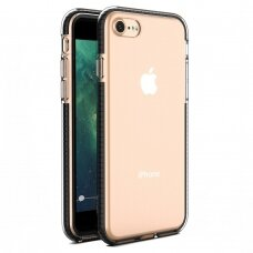 Iphone 7/8/ SE2020 dėklas Spring Case skaidrus juodais kraštais