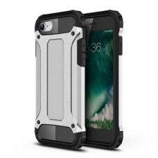 Iphone 7/8/SE 2020 dėklas Hybrid Armor  TPU+PC plastikas sidabrinis