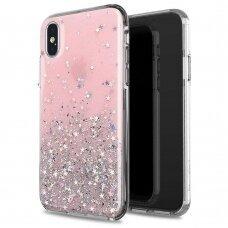 Akcija! iPhone 8 Plus / iPhone 7 Plus dėklas Wozinsky Star Glitter Shining rožinis