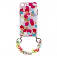 Akcija! Iphone SE 2020/ Iphone 7/ Iphone 8 dėklas Color Chain Design 3 spalvotas