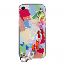Akcija! Iphone SE 2020/ Iphone 7/ Iphone 8 dėklas Color Chain Design 4 spalvotas