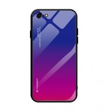 Akcija! iPhone 12/ 12 pro Gradient Glass Durable Cover mėlynas
