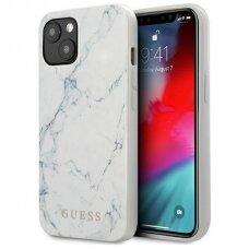 akcija! Iphone 13 originalus dėklas Guess marble baltas