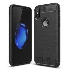 Akcija! Iphone XR dėklas carbon lux silikonas juodas