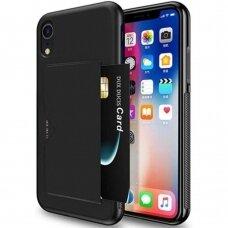 Akcija! Iphone XR Dėklas Dux Ducis Pocard  juodas