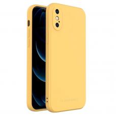 Iphone XS dėklas Wozinsky Color Case silikonas geltonas