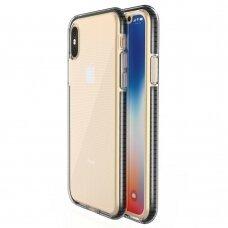Iphone X/Xs dėklas Spring Case skaidrus juodais kraštais