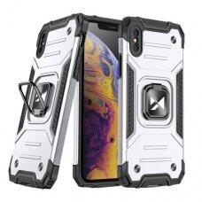 IPhone X/XS dėklas Wozinsky Ring Armor pilkas