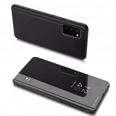 akcija! Samsung A32 4g  atverčiamas dėklas Clear View veidrodiniu-permatomu dangteliu juodas
