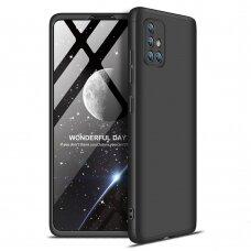 Akcija! Samsung A71 HURTEL dėklas dvipusis 360 plastikas juodas